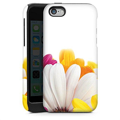 Apple iPhone 5s Housse Étui Protection Coque Fleurs Fleurs Marguerite Cas Tough brillant