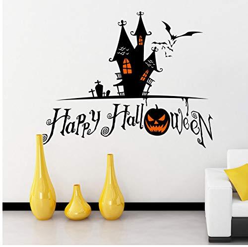 HHZDH Devils Tower Halloween Wandaufkleber Fenster Home Decoration Aufkleber