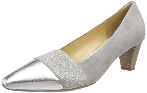 Gabor Shoes Damen Basic Pumps, Grau (Stone/Silber), 38 EU
