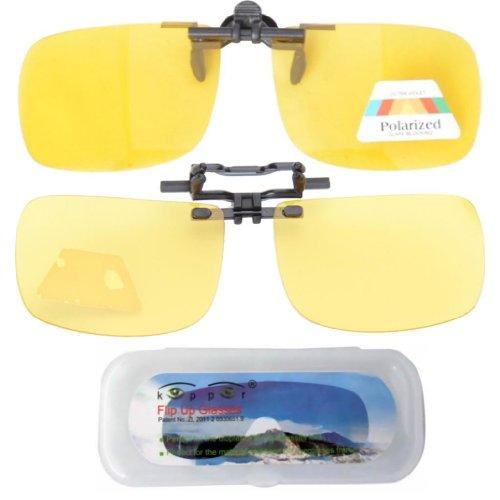 Eyekepper Sur-Lunettes de Soleil - UV Protection - Polarisation jaune