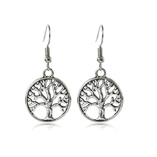 HDCooL Boho Jewellery Tree of Life Drop Earrings French Hook Celtic for Women Ladies for Couples Family Best Friends - Clean Rose Body Lotion