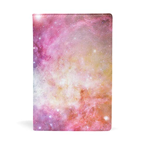 EZIOLY Universum Galaxy Nebula Starry dehnbarer Buchumschlag passend für die meisten Hardcover-Lehrbücher bis 22,6 x 14,5 cm, klebstofffreier Stoff Schulbuchschutz Einfach anzubringen. Wash & Re-Use