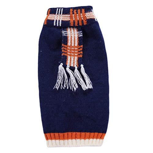 (YiiJee Haustier Hund Stricken Pullover Kleine Hundchen Halloween Atmungsaktiv Pullover Kleidung Blau S)