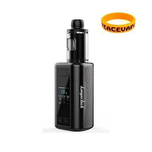 Authentic Kanger iKEN TC Starter Kit 230W / 5100mAh Battery - 2017 Kangertech Innovative E Cigarette (Full Black) Included Bonus Vape Band