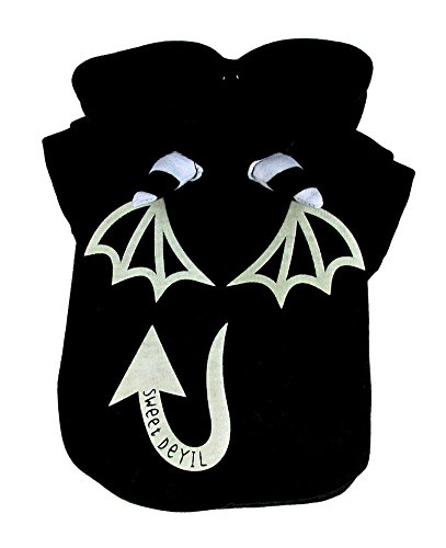 Animally® Hunde Teufel Kostüm - Devil Halloween Karneval Kostüm - Pullover (L, Schwarz)