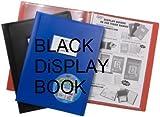 Gamme vente en gros Noir Porte-vues 20pochettes (= 40vues) Affichage livre dossier de présentation–Couverture souple–X 1simple Idéal pour le bureau/l'école, à la maison, etc.