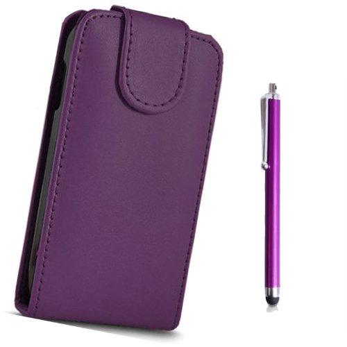 fi9-flip-pu-custodia-in-pelle-per-huawei-ascend-y300-pellicola-schermo-pennino-purple