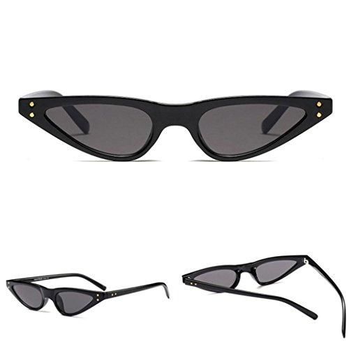 acc8b701c2 Gusspower Gafas De Sol Para Mujer Bisagras De Metal Pequeña Ojos De Gato  Marco De Plástico
