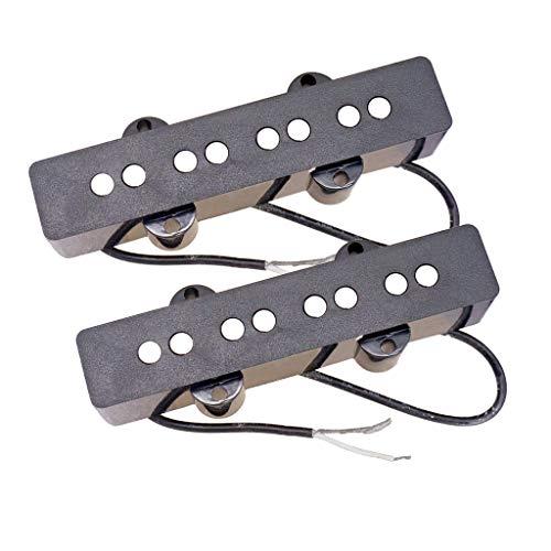Almencla 2Pcs Gitarre Tonabnehmer Pickup, 8 Loch Tonabnehmer für Akustik Gitarre Neck & Bridge