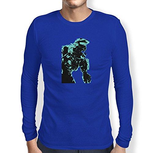 Texlab The Master - Herren Langarm T-Shirt, Größe S, Marine