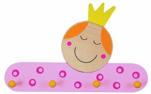 Niermann-Standby 937 - Garderobe Prinzessin - Hier hängt die kleine Prinzessin ihr Gewand auf. Garderobe aus Holz mit 4 Haken