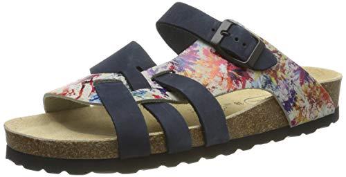 AFS-Schuhe 2122, Modische Damen-Pantoletten aus Leder, Bequeme Hausschuhe