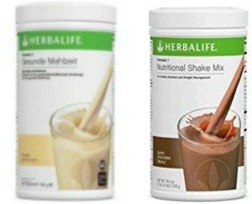 Herbalife Austria, 2 x Formula 1 Shake Schokolade + Vanille, je 550g (Schokoladen-vanille-milch)