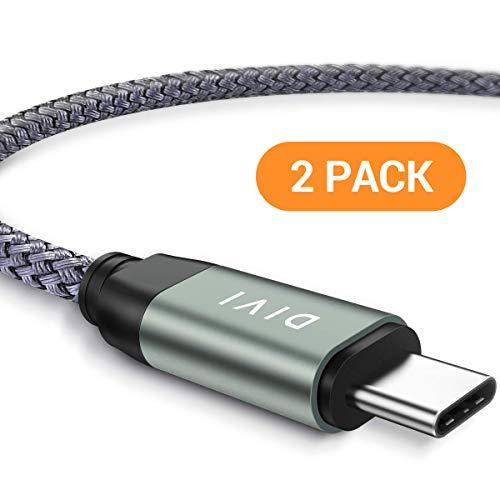 Cavo USB Tipo C, [Cavo USB C a USB A 3.0], [2 Pezzi 2m] 3.1A Veloce Cavo di Ricarica USB Rivestito in Nylon Intrecciato Ideale per Samsung Galaxy S9 S8 Plus,Note8 A5 A3, LG G5 G6, Huawei P9 P10