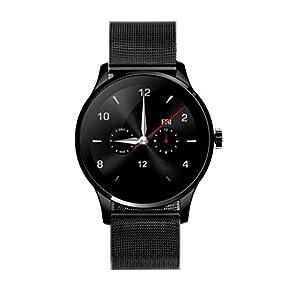 Smart Watch,Bescita K88H MTK2502C Bluetooth Smart Watch Heart Rate Fitness Tracker Stainless Steel Wristwatch