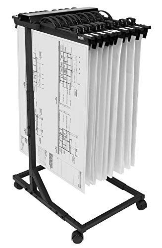 hang-a-plan, Mobile Blueprint Storage Rack, Höhe verstellbar, Kapazität für 2250Pläne auf 15Klemmen 45,7cm-76,2cm (Verkauft Getrennt) -