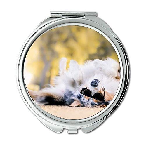 Yanteng Spiegel, Travel Mirror, Mops Hund, Taschenspiegel, 1 X 2X Vergrößerung