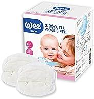 Wee Baby 129 Kavramalı Göğüs Pedi (3 Boyutlu), Beyaz