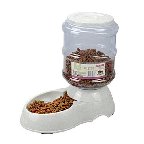 Pet Dog Cat Food Dispenser Waterer alimentatore automatico Bevitore in plastica durevole Grande Abbeveratoio 11L e 3.5L , s