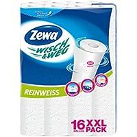Zewa 39639, Zewa Wisch und Weg Küchenrollen Reinweiß, 16 x 45 Blatt (16 Rollen)