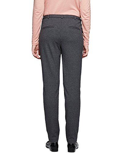 Comma CI 88.512.76.8157 - Pantalon - Femme Gris (grey/black Pin Stripe 98j5)