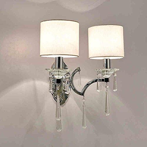 SKC Lighting-Applique murale Lampe murale en cristal de style européen Chaise de lit Simplicité moderne Chambre Salon Téléviseur Mur d'entrée Entrée Applique ( taille : Double head )
