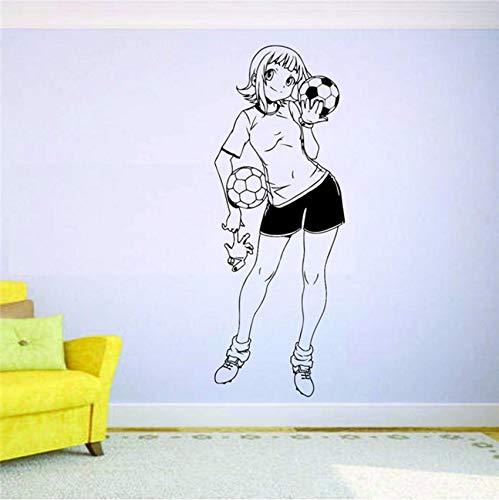 (Fushoulu 58X22 Cm Fußball Wandbild Vinyl Aufkleber Aufkleber Decor Mädchen Sport Fußball Spieler Team Zitieren Kunst Dekor Wohnkultur Abziehbilder)