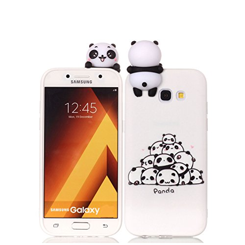 HopMore Samsung Galaxy A5 2017 Hülle Silikon 3D Schutzhülle Tier Panda Einhorn Muster Bumper Design Ultra Dünn Slim Handyhülle Silikonhülle Case Cover für Samsung A5 2017 - EIN Haufen Pandas