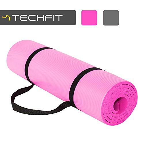 TECHFIT Tapis de Yoga et Fitness, Extra Epais 15mm, 180 x 60 cm, Parfait pour des Exercices au Sol, le Camping, le Gym, des Stretching,...