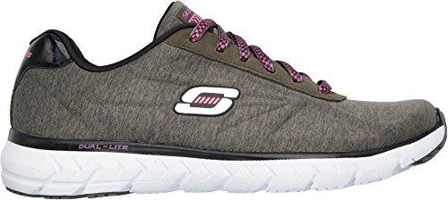 Skechers , Chaussons de gymnastique pour femme Olive