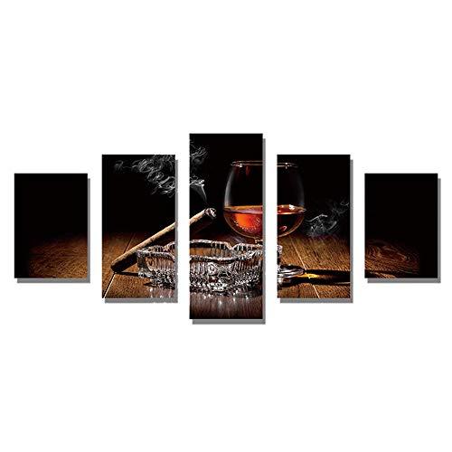 ReFaXi 5Pcs Bricolage 5D Diamant Peinture Broderie Point De Croix Art Décoration 95X45Cm (#11