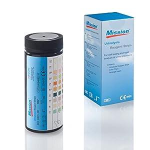 Urinteststreifen Mission 10 – 100 Urinanalysestreifen – Schnelltest auf 10 Parameter