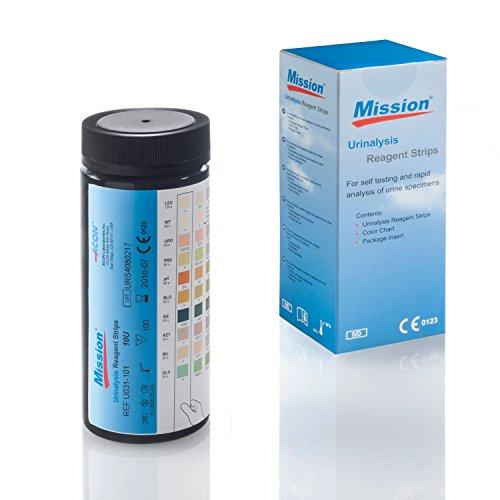 Urin Teststreifen Mission 11-100 Urinstreifen - Schnelltest mit 11 Parametern