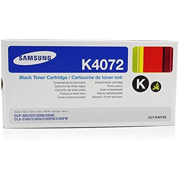 Alta Capacidad 1500 P/áginas Negro RINKLEE CLT-K4072S Cartucho de Toner Compatible para Samsung CLP-320 CLP-320N CLP-325 CLP-325N CLP-325W CLX-3180FN CLX-3185 CLX-3185FN CLX-3185FW CLX-3185W