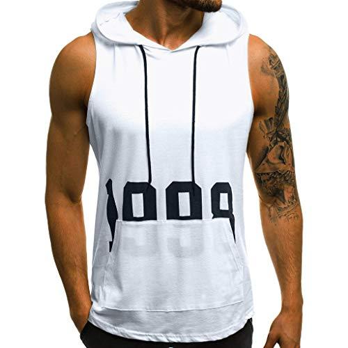 Wawer Herren T-Shirt Sommer Rundhals-Ausschnitt Slim Fit Moderner Männer T-Shirt Crew Neck Hoodie-Sweatshirt Kurzarm Tankshirt -