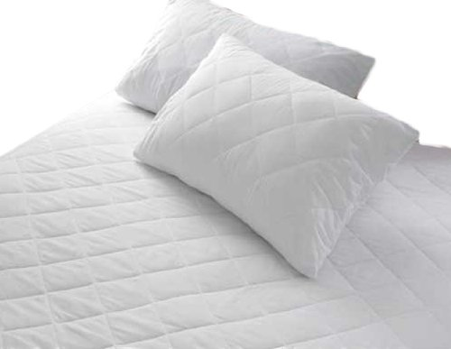 White Quilted Mattress Protector Fitted Sheet Bed Cover Double