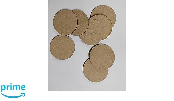 4 cm 40 mm 25 St/ück LaserKris Holzkreise zum Basteln