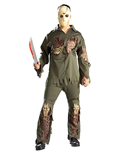 on Kostüm für Erwachsene - Einheitsgröße (Jason Vorhees-masken)