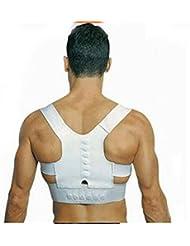 ewinever(TM) 2pcs Hombres Mujeres magnética postura de la espalda de apoyo correa del corrector Banda siento joven Cinturón de soporte en el hombro de los apoyos y ayudas para la seguridad del deporte