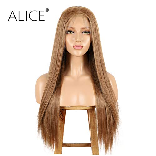 ALICE Perücken Lang 13x6 Perücke Blond 22