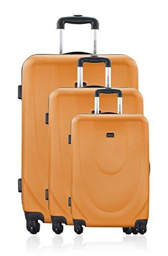 GEORGES RECH Juego de maletas, naranja (Naranja) - BD-1127