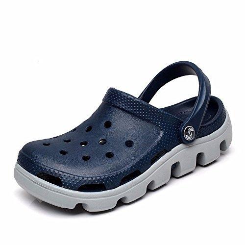 9 Solo Grossas Livre Sandálias 44 Azul E Us 10 46 Verão Eu Jovens Roman Sapatos Macio Novos Praia Jardim Cinza Europeus Inferior Esporte Ar Ao Buracos Uk Cn Homens 5 ppT6qPnSw