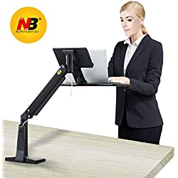 "NB North Bayou FB17 11""-17"" Supporto Notebook Laptop stand supporto da scrivania per monitor con braccio monitor regolabile 360° da molla a gas per monitor /Nero"