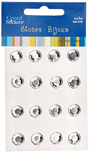 Crystal Stickers Stones 10mm Round 16/Pkg-Clear (Mark Crystal Sticker)