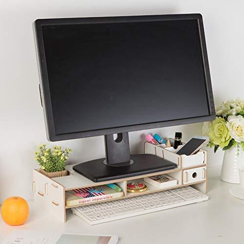 KKCD Multifunktions Desktop Monitor Stehen Computer Bildschirm Riser Holz Regal Sockel Starke Laptop Ständer Schreibtisch Halter Für Notebook TV (Farbe : D) (Schreibtisch-monitor-sockel)