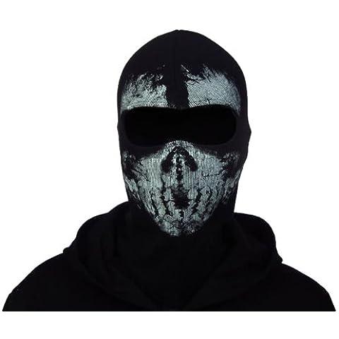 Andonger Chiamata Generico of Duty 10 Balaclava Volto Santo Skull Mask Hood Biker Skateboard Cosplay Cod (One Occhi Hole)