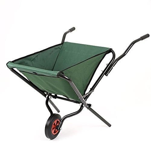 Carriola Pieghevole da Giardino Leggera Trolley Peso Massimo 50KG