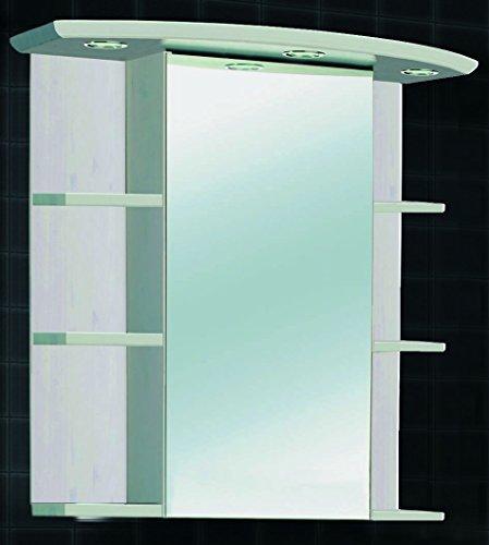 Spiegelschrank Massivholz mit Beleuchtung - 60 cm