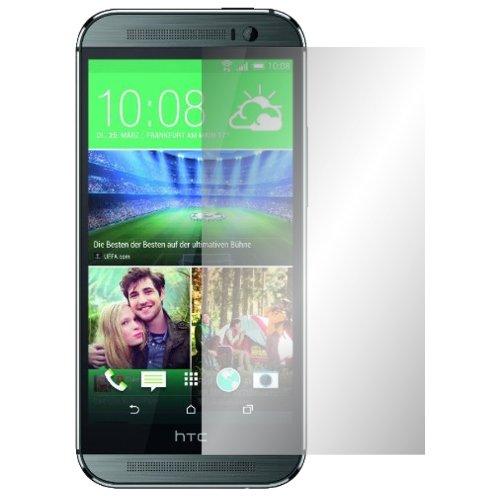 Slabo 4 x Bildschirmschutzfolie HTC ONE M8 Bildschirmschutz Schutzfolie Folie Crystal Clear unsichtbar MADE IN GERMANY