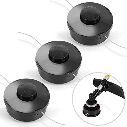 3 x Fadenspule Rotfuchs Sparset Doppelfadenkopf mit Tippautomatik Fadenkopf für Motorsense und Multifunktionsschneider